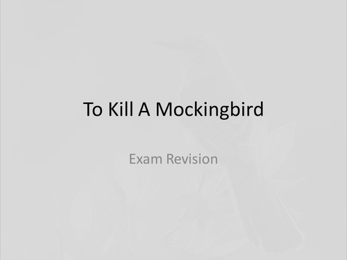 to kill a mockingbird quoby fionarigney teaching resources tes  to kill a mockingbird revision powerpoint ·