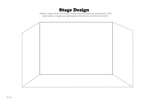 Set Design Worksheet by rhirhian Teaching Resources Tes – Theatre Worksheets