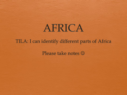 Africa terrain powerpoint