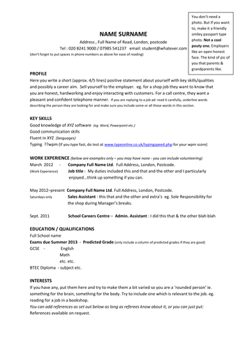 Sample resume year 12 student resume ixiplay free resume samples resume sample resume year 12 student year 11 model cv template example profiles by barbara50 teaching yelopaper Image collections