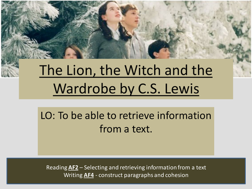 The Lion, The Witch and the Wardrobe Complete SOW