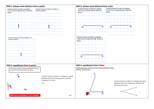 Loci and Constructions by bballard Teaching Resources Tes – Locus Worksheet