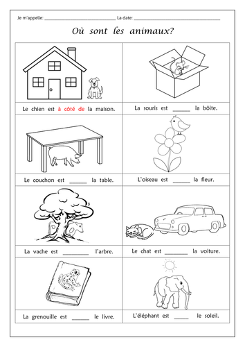 Les Animaux - French animals worksheet by Phoenixing - Teaching ...
