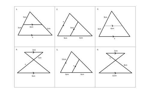 Similar Triangles Matching Task by cturner16 - Teaching Resources - Tes