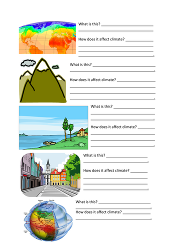 Worksheet Factors Affecting Climate Worksheet factors that effect climate by mr grumpy teaching resources tes