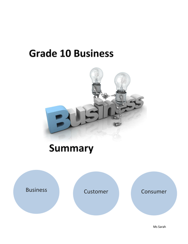 IGCSE Business Revision Booklet