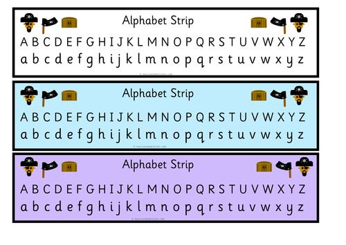Pirate Alphabet Strip Upper & Lower Case by ...