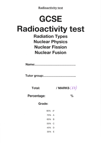 Nuclear chemistry tests and answer key by adnanansari  Teaching