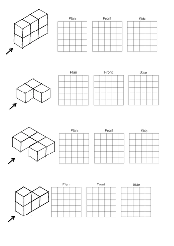 Plan And Front Elevation Of A Solid Shape : Plan and elevation by nickcm teaching resources tes