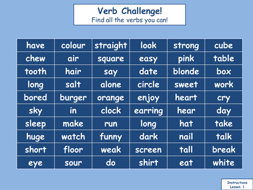 what are instructional verbs