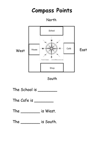 Compass Activity Worksheet: pass points worksheet by live4ska teaching resources tes,