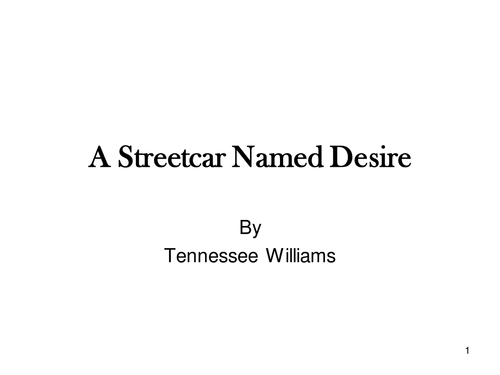 a theme of condemning people who show cruelty and harshness in a streetcar named desire by tennessee Such small things mean a lot in a production that so artfully underlines the enduring power of a play that still has much to teach us about deliberate cruelty, the telling of what ought to be truth, the toll and terror of desire a streetcar named desire continues through nov 21 at the kennedy center, 2700 f st nw, washington the.