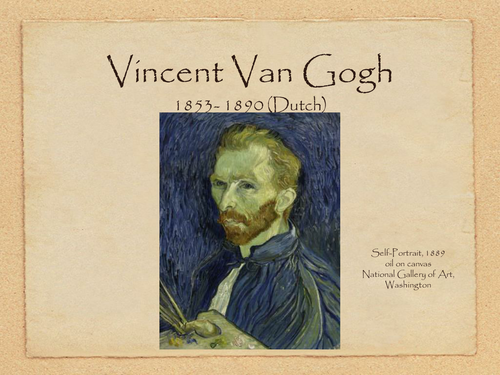 Vincent Van Gogh; Line and Colour