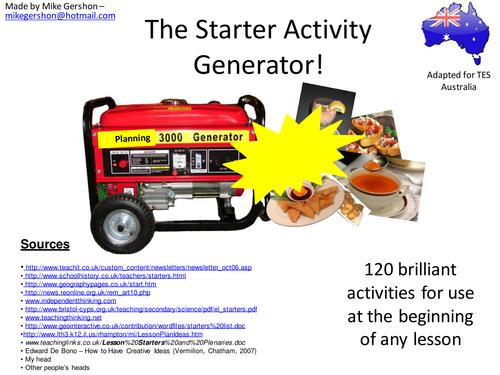 The Starter Activity Generator