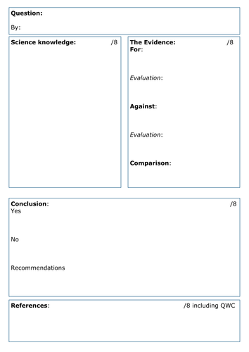 template for writing a case study - case study questions for science gcse