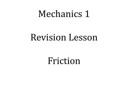 Printables Coefficient Of Friction Worksheet advanced mechanics teaching resources forces and equilibrium tes friction exam revision powerpoint m1