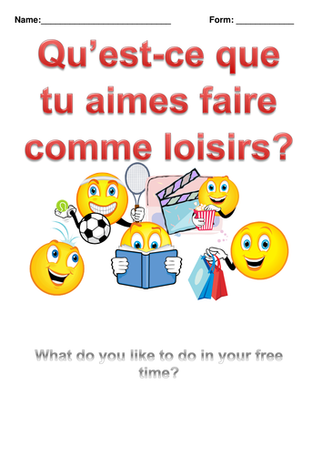 French: Sports and Hobbies Revision Booklet