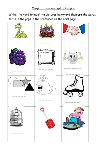 A E Split Digraph Worksheet By Joop09 Teaching Resources Tes