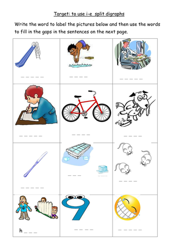 i-e split digraph worksheet