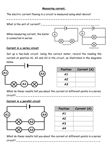 series and parallel circuits diagrams measuring current amp voltage electrical circuits by series and parallel wiring diagram