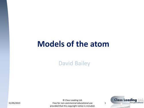 Models of the atom - Comparison