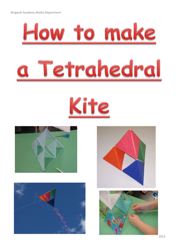 Making a kite presentation by tesiboard teaching for Tetrahedron kite template
