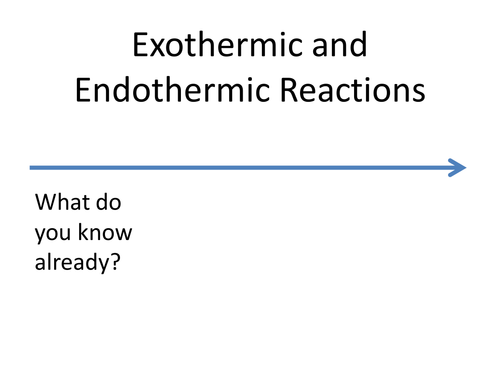 Introduction to exothermic endothermic reactions by Eiregirl – Endothermic and Exothermic Worksheet
