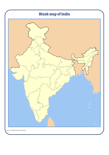 Blank map of India by tokyoboy | Teaching Resources