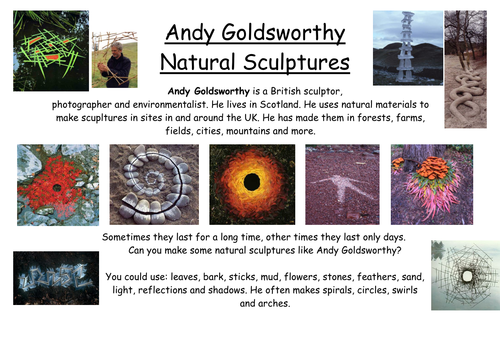 Andy Goldsworthy PowerPoint | Teaching Resources