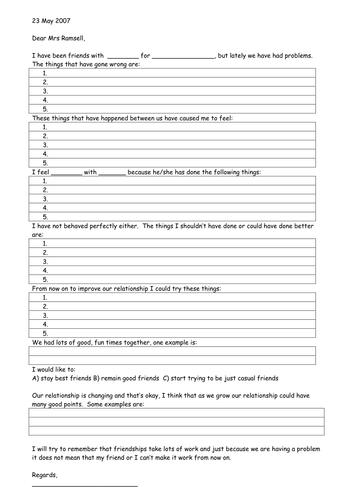 Relationship Restoration Letter
