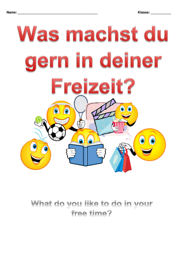 German: Sports and Hobbies Revision Booklet