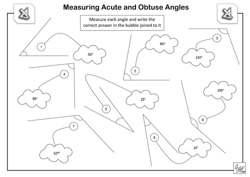 Measuring Acute and Obtuse Angles by imath - Teaching Resources - Tes
