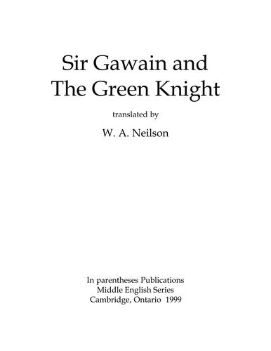 Sir Gawain And The Green Knight By Tidi201125198 Teaching