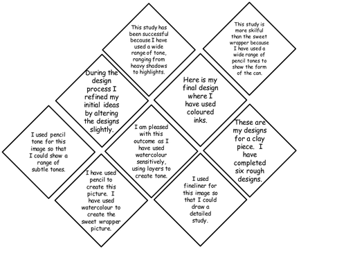 Diamond 9 Starter for Annotating Work