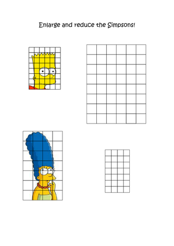 Enlarge the Simpsons by fduggan - Teaching Resources - Tes