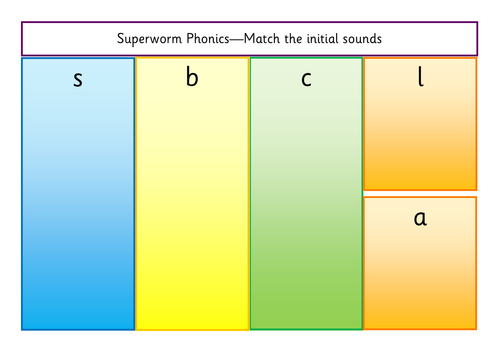 Superworm Initial Sounds Identifying/Matching | Teaching Resources