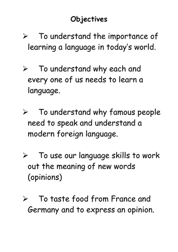 Why Learn Languages?