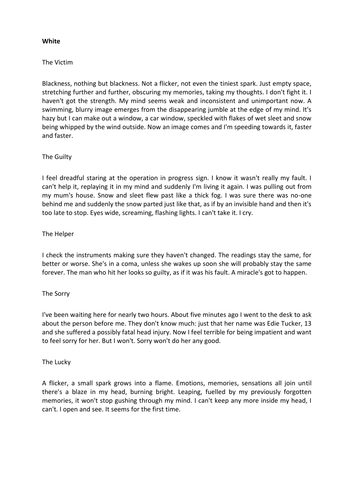 Writing mystery stories ks3 english