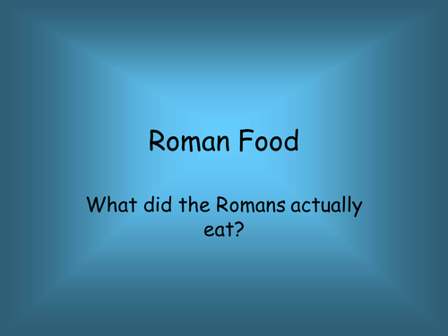 Roman food by alainechristian teaching resources tes forumfinder Image collections