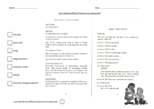 Worksheets and Other Resources - English