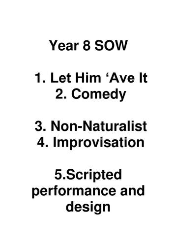 Year 8 or 9 Drama Scheme of Work