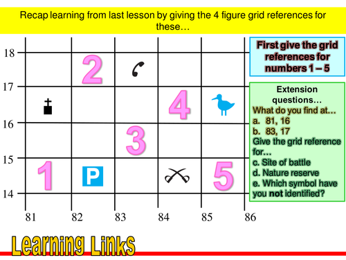 4 and 6 Grid Reference Exercises by liewksjudy Teaching – Map Grid Worksheets