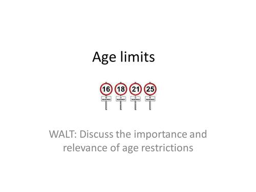 Age limits: KS4 PSHE Lesson