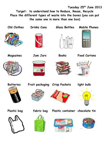 Reduce Recycle And Reuse By Joop09 Teaching Resources Tes