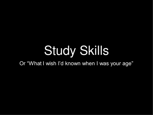 KS3/4/5 Research summary on effective study skills