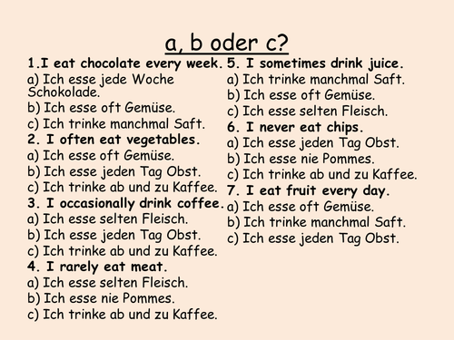 KS3 German: Food and drink Iss dich fit (Echo 2)