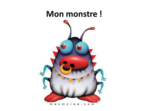 KS3 French: My Monster poem