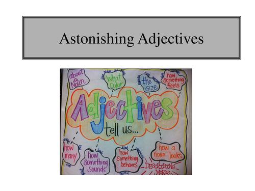 SPaG adjectives and SPaG check list