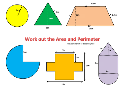 perimeter and area of compound shapes by jomax766 Teaching – Area Compound Shapes Worksheet