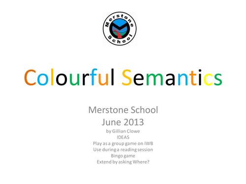 Colorful Semantics IWB activity